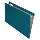 Pendaflex PFX76502 Earthwise Recycled Colored Hanging File Folders, 1/5 Tab, Legal, Blue, 25/box