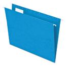 Pendaflex PFX81603 Essentials Colored Hanging Folders, 1/5 Tab, Letter, Blue, 25/box