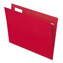 Pendaflex PFX81608 Essentials Colored Hanging Folders, 1/5 Tab, Letter, Red, 25/box