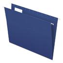 Pendaflex PFX81615 Essentials Colored Hanging Folders, 1/5 Tab, Letter, Navy, 25/box