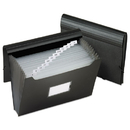 Pendaflex PFX82013 Jumbo 13-Pocket File, Poly, Letter, Black
