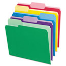 Pendaflex PFX84370 File Folders With Erasable Tabs, 1/3 Cut Top Tab, Letter, Assorted, 30/pack