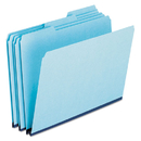 Pendaflex PFX9200T13 Pressboard Expanding File Folders, 1/3 Cut Top Tab, Letter, Blue, 25/box