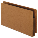 Pendaflex PFX95545 Heavy-Duty End Tab File Pockets, Straight Cut, 1 Pocket, Legal, Brown