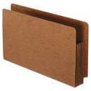 Pendaflex PFX95565 Heavy-Duty End Tab File Pockets, Straight Cut, 1 Pocket, Legal, Brown