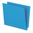 Pendaflex PFXH110DBL Reinforced End Tab Folders, Two Ply Tab, Letter, Blue, 100/box