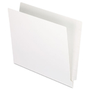 Pendaflex PFXH110DW Reinforced End Tab Folders, Two Ply Tab, Letter, White, 100/box