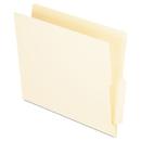 Pendaflex PFXH114D End Tab Folders, Straight Cut Tab, Two Ply, Letter, Manila, 100/box