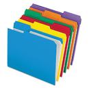 Pendaflex PFXR15213ASST Reinforced Top Tab File Folders, 1/3 Cut, Letter, Assorted, 100/box