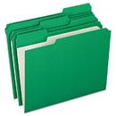 Pendaflex PFXR15213BGR Reinforced Top Tab File Folders, 1/3 Cut, Letter, Green, 100/box