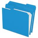 Pendaflex PFXR15213BLU Reinforced Top Tab File Folders, 1/3 Cut, Letter, Blue, 100/box