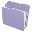 Pendaflex PFXR15213LAV Reinforced Top Tab File Folders, 1/3 Cut, Letter, Lavender, 100/box
