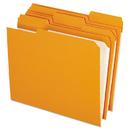 Pendaflex PFXR15213ORA Reinforced Top Tab File Folders, 1/3 Cut, Letter, Orange, 100/box