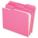 Pendaflex PFXR15213PIN Reinforced Top Tab File Folders, 1/3 Cut, Letter, Pink, 100/box