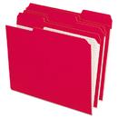 Pendaflex PFXR15213RED Reinforced Top Tab File Folders, 1/3 Cut, Letter, Red, 100/box