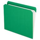 Pendaflex PFXR152BGR Reinforced Top Tab File Folders, Straight Cut, Letter, Bright Green, 100/box