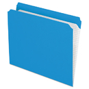 Pendaflex PFXR152BLU Reinforced Top Tab File Folders, Straight Cut, Letter, Blue, 100/box