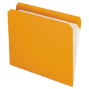 Pendaflex PFXR152ORA Reinforced Top Tab File Folders, Straight Cut, Letter, Orange, 100/box