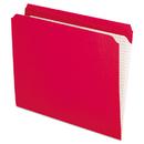 Pendaflex PFXR152RED Reinforced Top Tab File Folders, Straight Cut, Letter, Red, 100/box