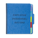 Pendaflex PFXSER1BL Personnel Folders, 1/3 Cut Top Tab, Letter, Blue