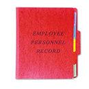 Pendaflex PFXSER1ER Personnel Folders, 1/3 Cut Top Tab, Letter, Red
