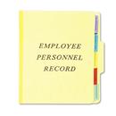 Pendaflex PFXSER1YEL Personnel Folders, 1/3 Cut Top Tab, Letter, Yellow