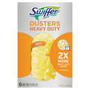 Swiffer 21620 Heavy Duty Dusters Refill, Dust Lock Fiber, Yellow, 6/Box, 4 Box/Carton