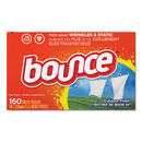 Bounce PGC80168CT Fabric Softener Sheets, 160 Sheets/box, 6 Boxes/carton