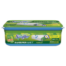 Swiffer 95532 Wet Refill Cloths, Gain Original Scent, White, 8 x 10, 24/Pack, 6 Pack/Carton
