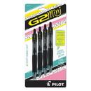 Pilot 31734 G2 Mini Retractable Gel Pen, Fine 0.7mm, Black Ink/Barrel, 4/Pack