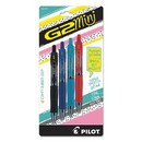 Pilot 31737 G2 Mini Retractable Gel Pen, Fine 0.7mm, Assorted Ink/Barrel, 4/Pack