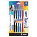 Pilot 32442 FriXion ColorSticks Erasable Gel Ink Pen, Assorted Ink, Fine, 5/PK