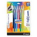 Pilot 32456 FriXion ColorSticks Erasable Gel Ink Pen, Fine, 0.7 mm, Assorted Ink, 10/PK