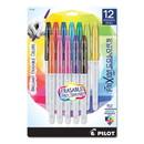 Pilot 44155 FriXion Colors Erasable Stick Marker Pen, 2.5mm, Assorted Ink/Barrel, 12/Set