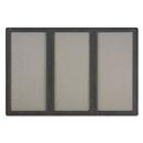Quartet QRT2367L Enclosed Fabric-Cork Board, 72 X 48, Gray Surface, Graphite Aluminum Frame