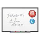 Quartet QRT2547B Classic Porcelain Magnetic Whiteboard, 72 X 48, Black Aluminum Frame