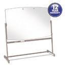 Quartet QRT3640TE Total Erase Reversible Mobile Easel, 72 X 48, White Surface, Neutral Frame