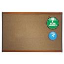 Quartet QRTB243LC Prestige Bulletin Board, Brown Graphite-Blend Surface, 36 X 24, Cherry Frame