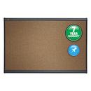 ACCO BRANDS QRTB244G Prestige Bulletin Board, Brown Graphite-Blend Surface, 48 X 36, Aluminum Frame