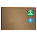 ACCO BRANDS QRTB244LC Prestige Bulletin Board, Brown Graphite-Blend Surface, 48 X 36, Cherry Frame