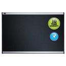 ACCO BRANDS QRTB344A Embossed Bulletin Board, Hi-Density Foam, 48 X 36, Black, Aluminum Frame