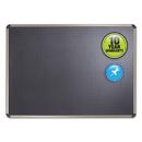 ACCO BRANDS QRTB364T Euro-Style Bulletin Board, High-Density Foam, 48 X 36, Black/aluminum Frame