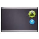 ACCO BRANDS QRTB444A Prestige Bulletin Board, Diamond Mesh Fabric, 48 X 36, Gray/aluminum Frame