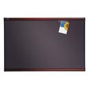 ACCO BRANDS QRTB444M Prestige Bulletin Board, Diamond Mesh Fabric, 48 X 36, Gray/mahogany Frame