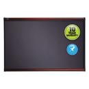 ACCO BRANDS QRTB447M Prestige Bulletin Board, Diamond Mesh Fabric, 72 X 48, Gray/mahogany Frame