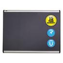 Quartet QRTMB543A Prestige Plus Magnetic Fabric Bulletin Board, 36 X 24, Aluminum Frame