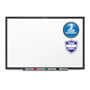 Quartet QRTS534B Classic Melamine Dry Erase Board, 48 X 36, White Surface, Black Frame