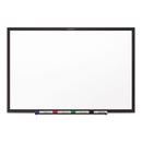 Quartet QRTS537B Classic Melamine Dry Erase Board, 72 X 48, White Surface, Black Frame