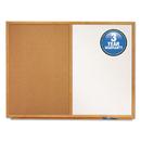 Quartet QRTS553 Bulletin/dry-Erase Board, Melamine/cork, 36 X 24, White/brown, Oak Finish Frame