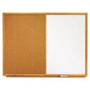 Quartet QRTS554 Bulletin/dry-Erase Board, Melamine/cork, 48 X 36, White/brown, Oak Finish Frame
